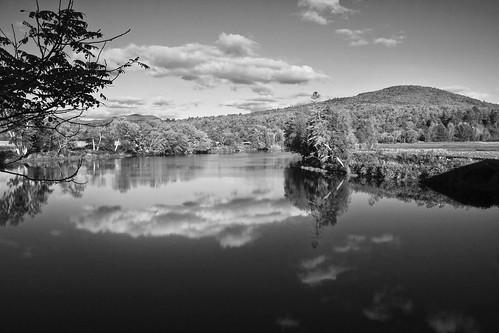 bw usa holiday river landscape vacances vakantie blackwhite view zwartwit newhampshire vs amerika landschap rivier doka verenigdestaten dedoka vacation2010usa vakantie2010vszw