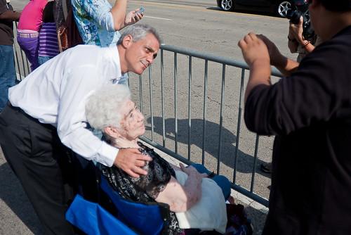 Rahm Emanuel at the Columbus Day Parade