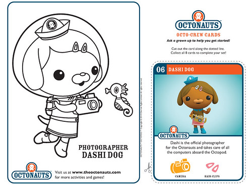 shellington and dashi octonauts coloring pages