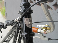 Badge design on a Pedersen bicycle