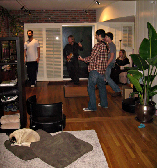 Playing rock band in game room before decorating flickr photo sharing Room decorating games for adults