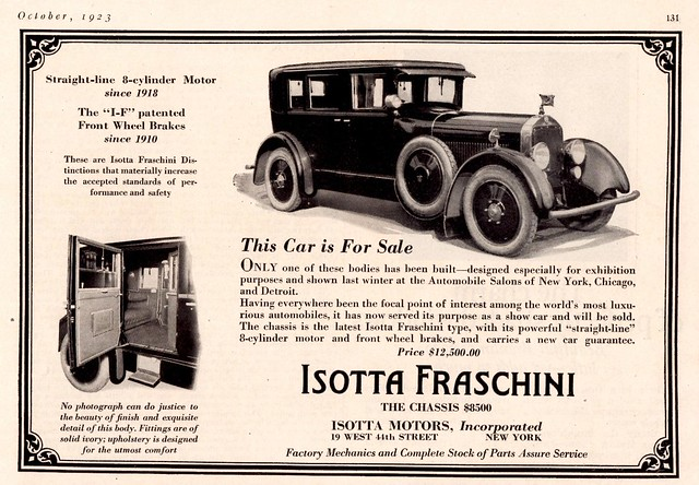 1924 Isotta Fraschini Straight 8 Sedan