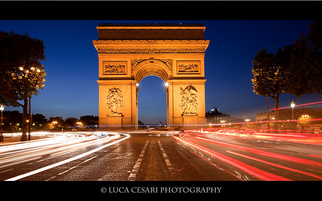 Arc de Triomphe, Sunset