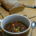 Chili (vegan) with English Bread (vegan)
