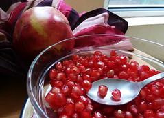 pomegranate, produce, fruit, food,