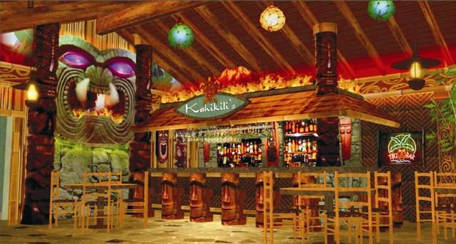 Interior Tropical Bar Design | Tiki Bar Design | Interior ...