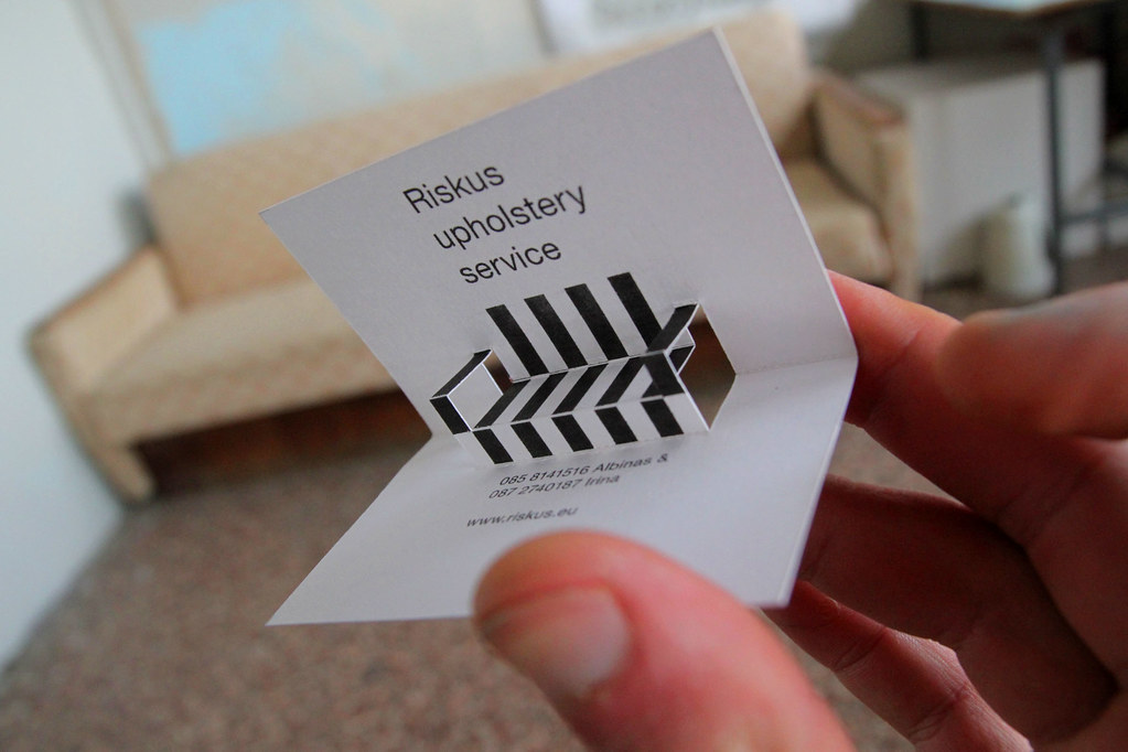 RISKUS UPHOLSTERY SERVICE business card - a photo on Flickriver