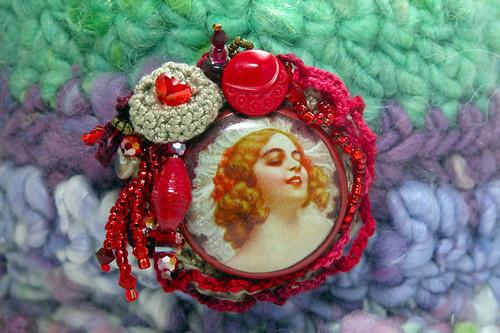 Christmas Vamp Brooch