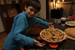 nick with the apple pie he helped create