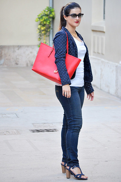 valencia something fashion blogger spain influencer streetstyle michael kors tote bag blazer rayban_0007