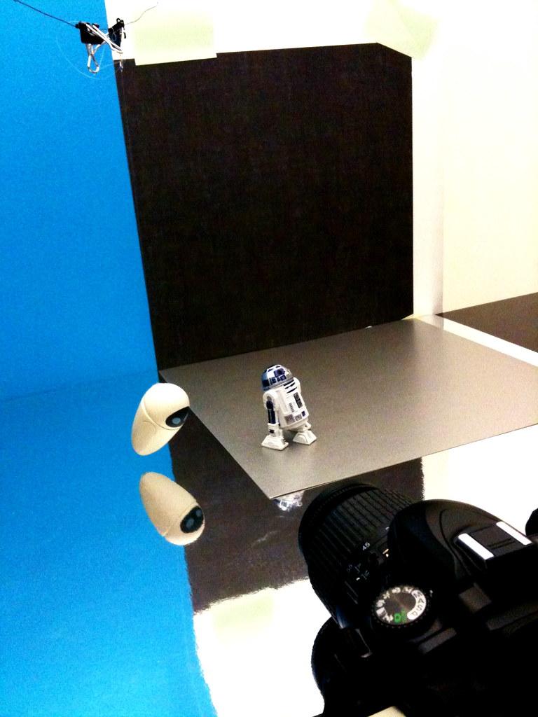 EVE vs. R2-D2 Setup