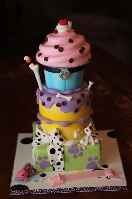 Littlest Pet Shop inspired cake