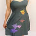 Cascading Applique Dress