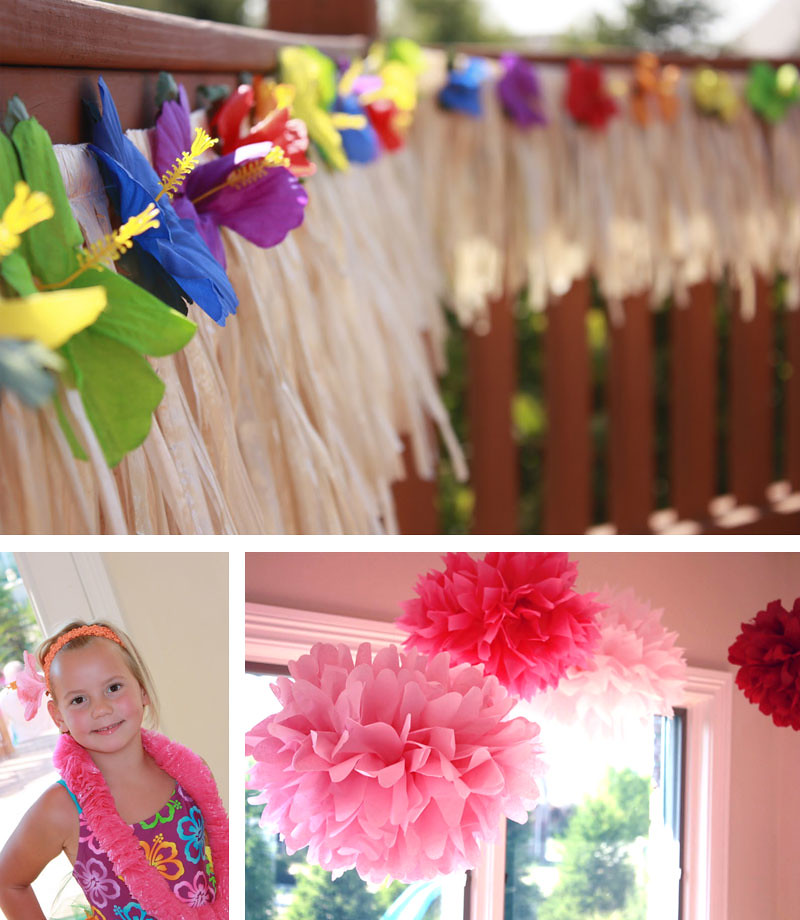 Luau birthday party lily is 6 chickabug for Luau decorations