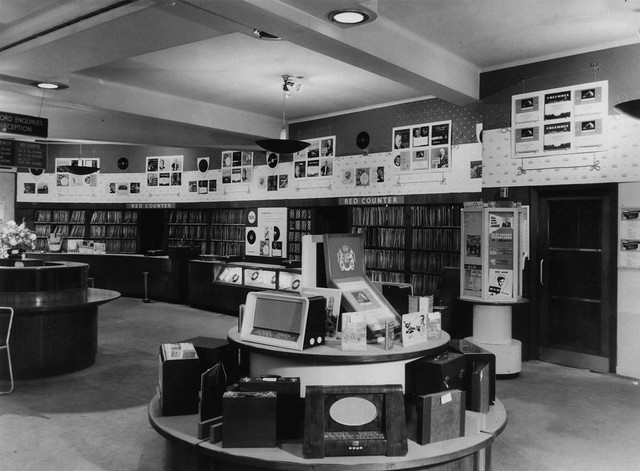 hmv 363 Oxford Street, London - Red Counter 1950s