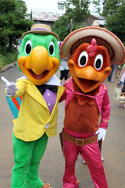 Meeting Panchito and Jose Carioca