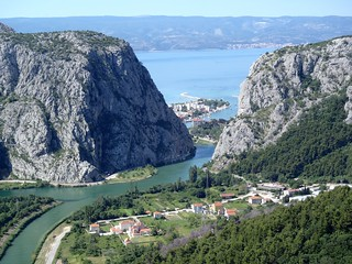 View of Omiš from inland
