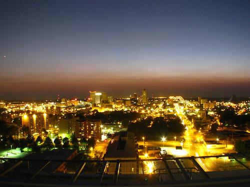 sunset memphis citylights tennesse lebonheurchildrenshospital