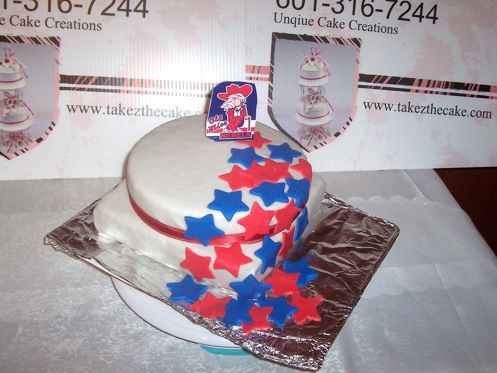 Outstanding Ole Miss Birthday Cake Julie Mitchell Flickr Funny Birthday Cards Online Fluifree Goldxyz