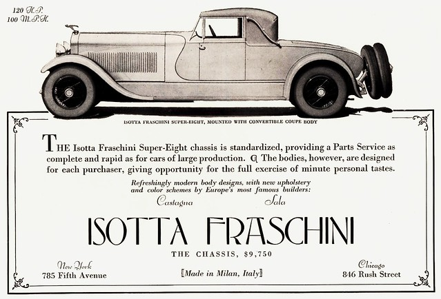 1928 Isotta Fraschini Super-Eight Convertible Coupe
