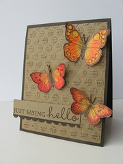 polka dot embossed butterflies