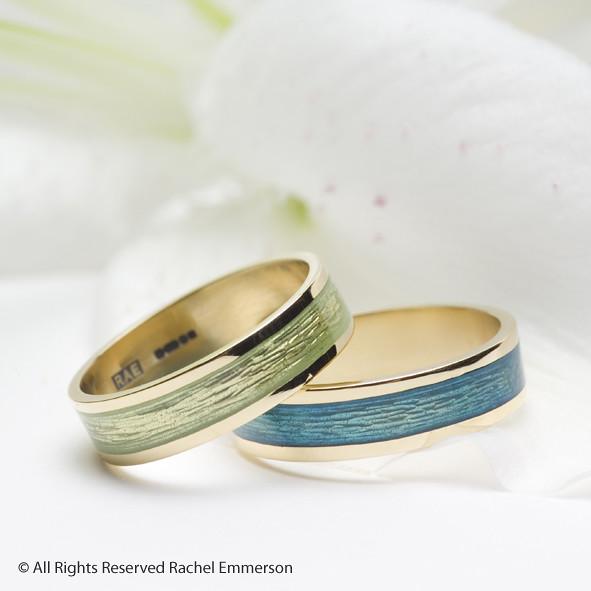 enamel gold rings wedding band flickr photo