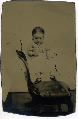 TINTYPE HIDDEN MOTHER FLOATING BABY