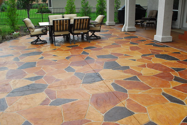 stained concrete patio highland village texas flickr
