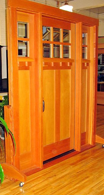 308 DOUGLAS FIR CRAFTSMAN DOOR WITH SIDELIGHTS Flickr Photo Sharing