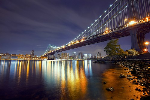 newyorkcity bridge lights cityscape manhattan shore citylights manhattanbridge newyorkatnight colorfulnight canon1740f4lusm lightsreflections canon5dmarkii