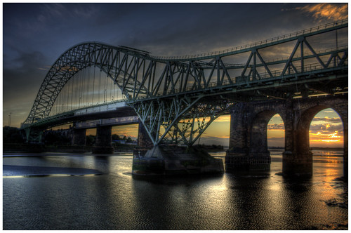 bridge sunset hdr runcorn canoneos1000d