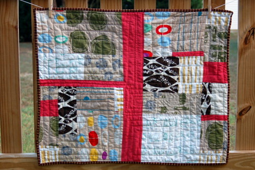 printed linen quilt