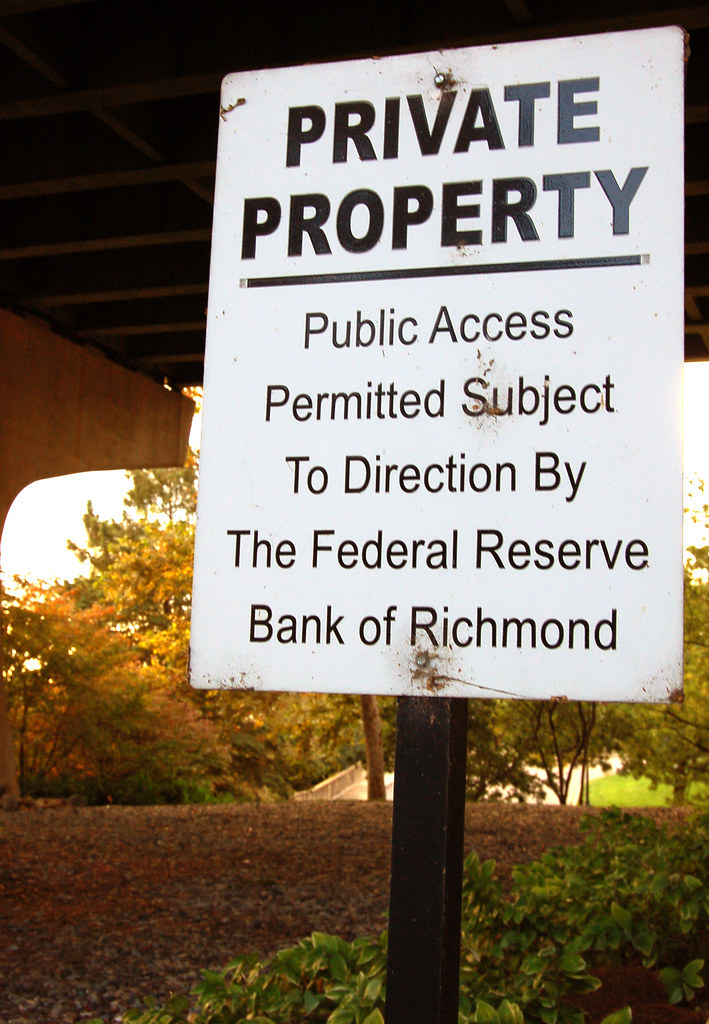Private Property | Federal Reserve Bank of Richmond, Downtow