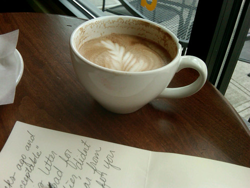coffee shop letter writing