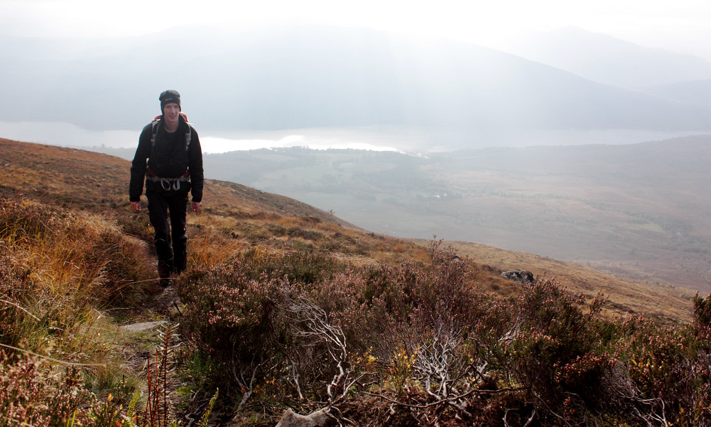 Climbing above Loch Laggan