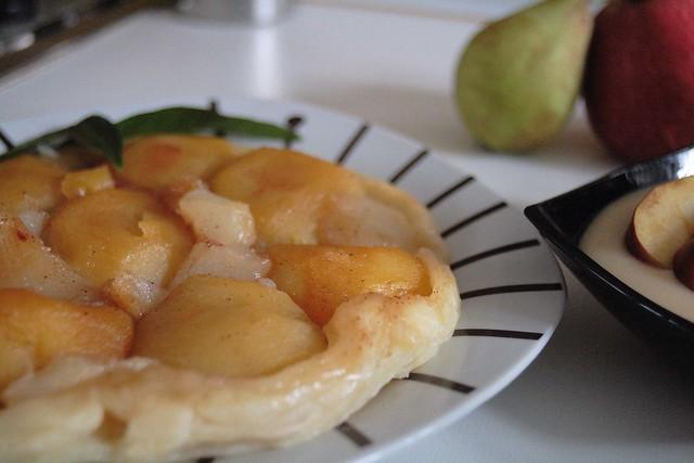 Tatín de manzana y pera