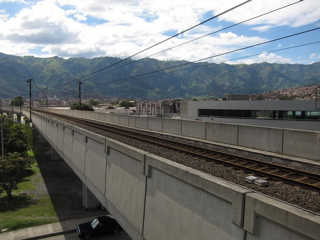 View south from Niquia toward Medellin. The mountains in the distance are where you can go paragliding.