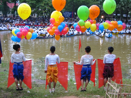 Vibrant colours from the Cambodian Water Festival.