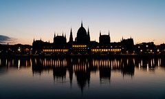 Sunrise in Budapest w/ less sky