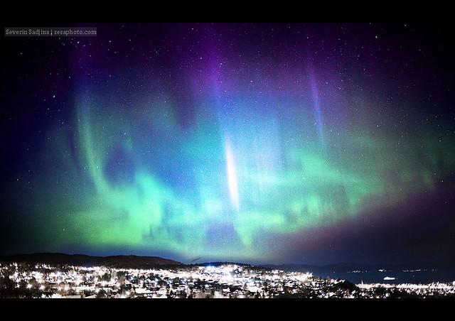Northern Lights over Trondheim, Norway