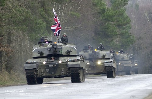 Challenger 2 Tanks with the 2nd Royal Tank Regiment in 2003