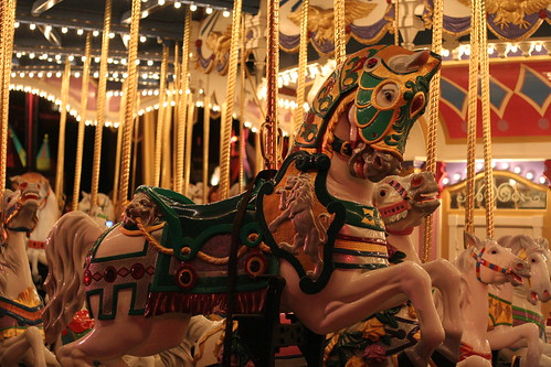 Carousel Horse at Night