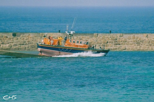 Action Stations! Sennen Lifeboat - 2003 by Stocker Images