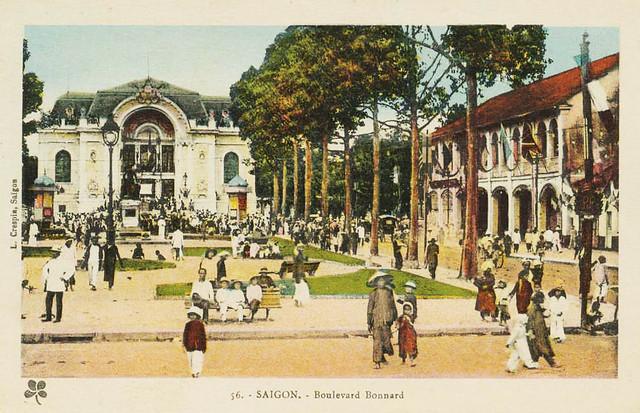 SAIGON - Boulevard Bonard, capitale de l´Indochine Française