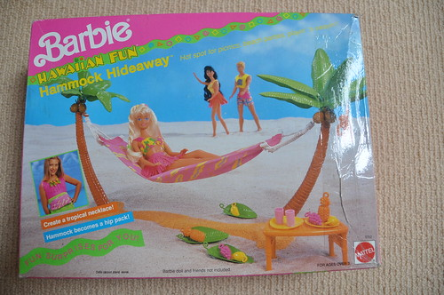 Barbie Hawaiian Fun Hammock Hideaway Box