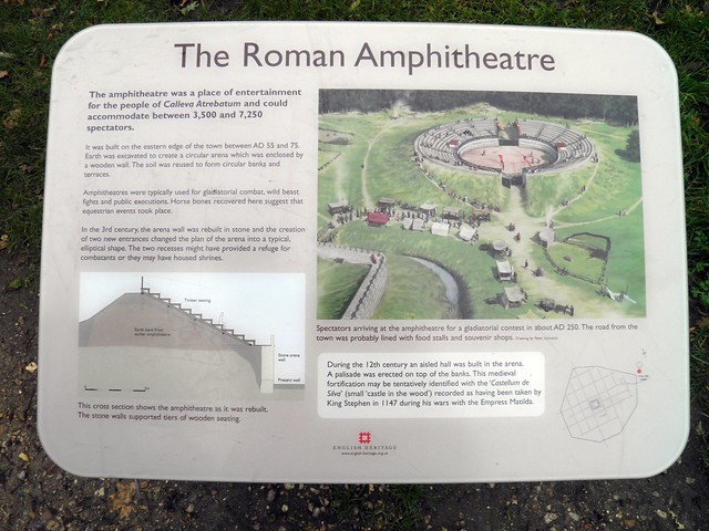 The Roman amphitheatre (panel), Calleva Atrebatum