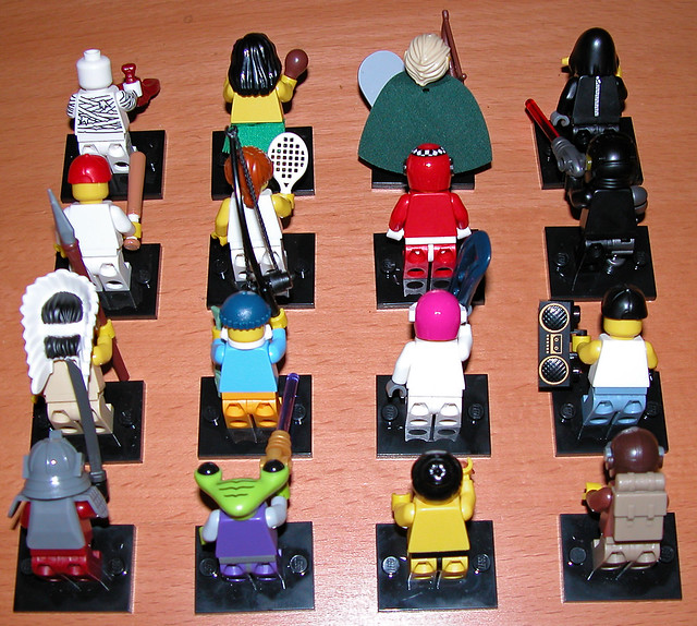 LEGO Series 3 Minifigures - Rear