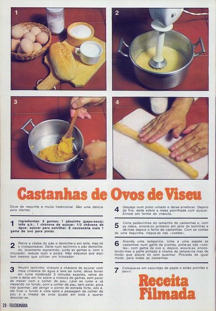 Tele Culinária e Doçaria, Especial Outono, Setembro 1980 - 18