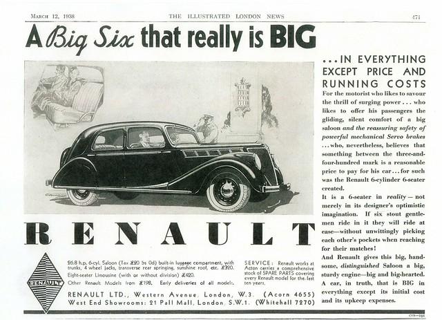 1938 Renault Viva Grand Sport (UK)