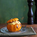 Polenta stuffed pumpkin